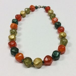 Beautiful 1950's Necklace Bobble, In Vibrant Color